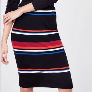Vince Camuto striped pencil skirt